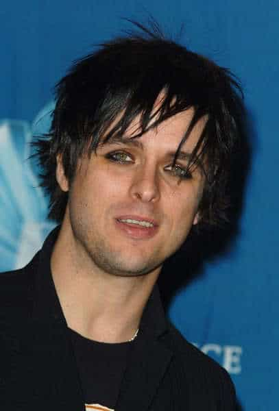Billie Joe's cool emo hairstyle