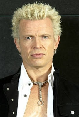 Billy Idol blonde hairstyle