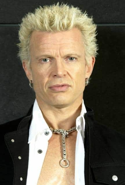 Picture of Billy Idol blonde hairstyle.