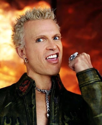 Billy Idol blonde punk hairstyle