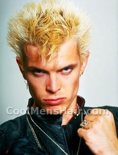 Billy Idol spikey porcupine hairstyle photo.