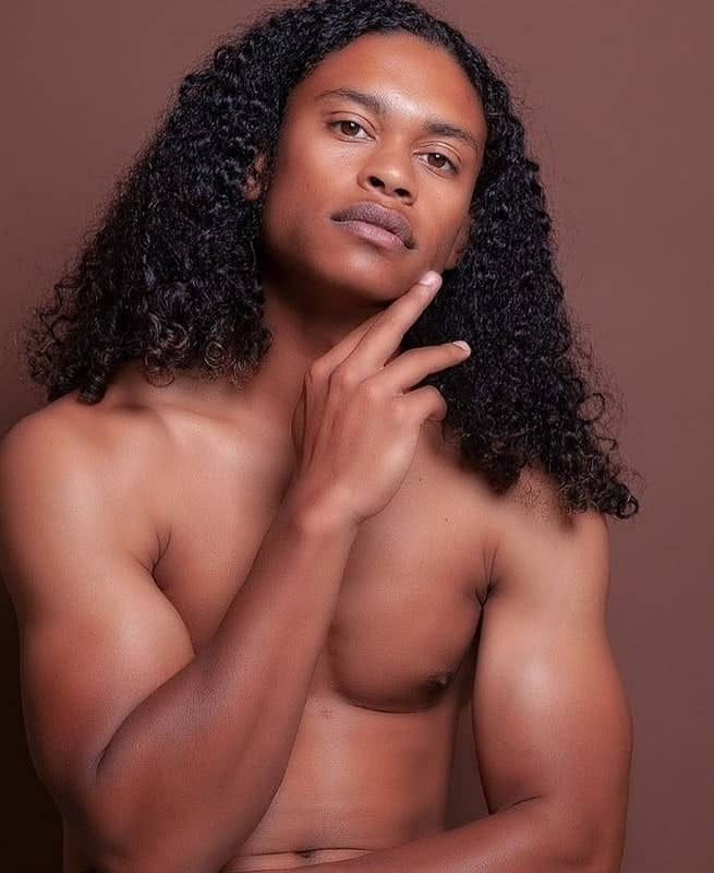 Black Man With Long Curly Hair