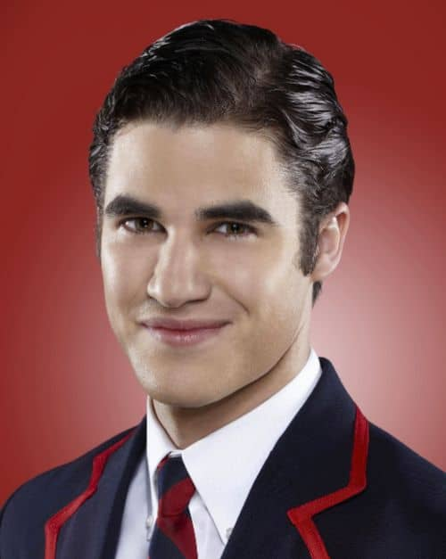 Picture of Darren Criss Blaine Anderson hairstyle.