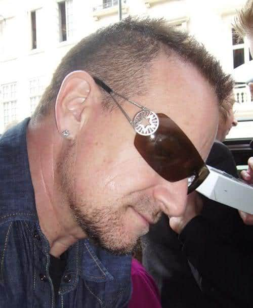 Photo of Bono very short hairstyle