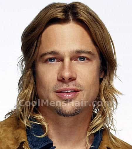 brad pitt hair style 30 most actors amp singers with hair cool 5403 | Brad Pitt long hair style
