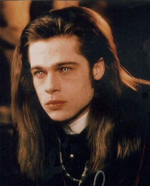 Image of Brad Pitt Louis hairstyle.