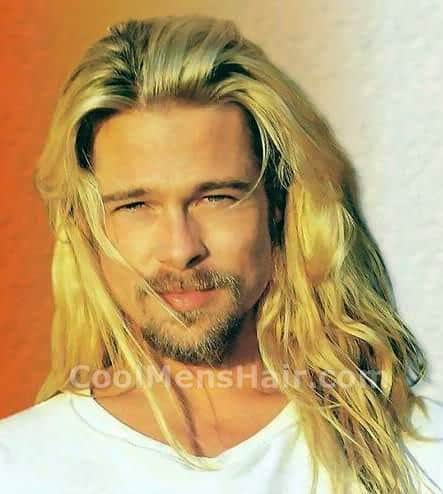 Picture of Brad Pitt long blonde hair.