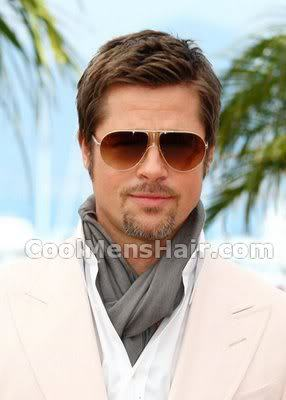 Image of Brad Pitt short haircut.