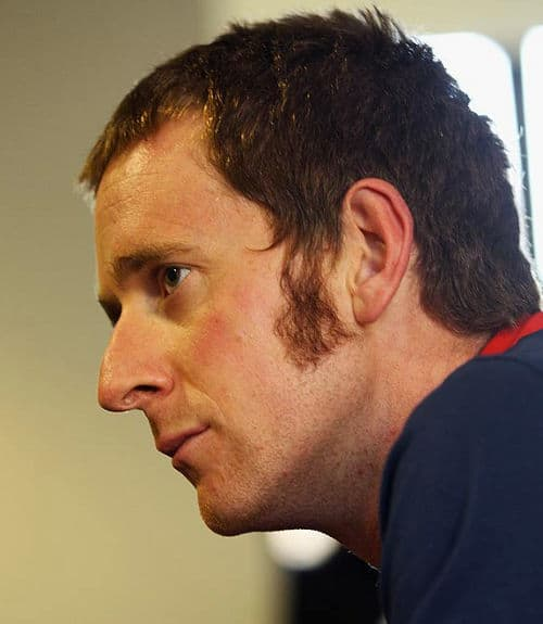 Photo of Bradley Wiggins sideburns.