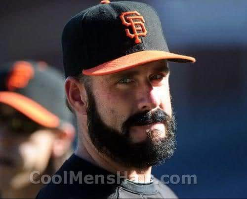 Picture of Brian Wilson with full beard.