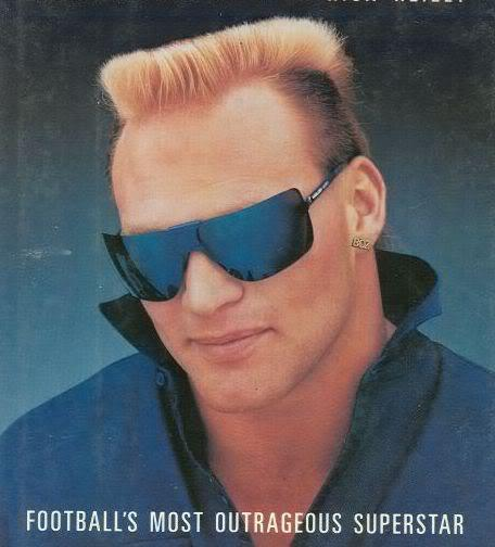 Picture of Brian Bosworth mullet hair for men.