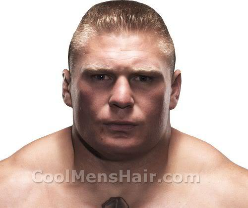 Picture of Brock Lesnar hairstyle.