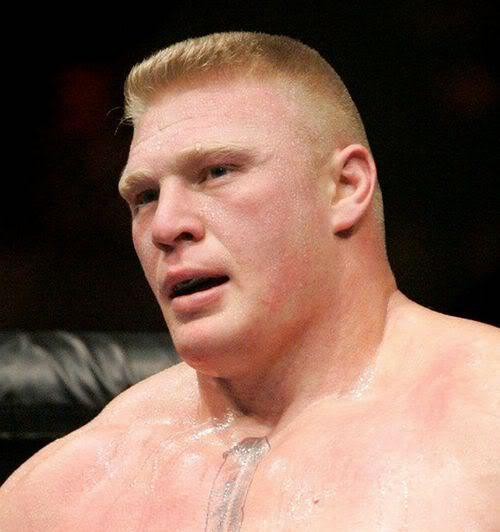 Image of Brock Lesnar flattop crew cut.
