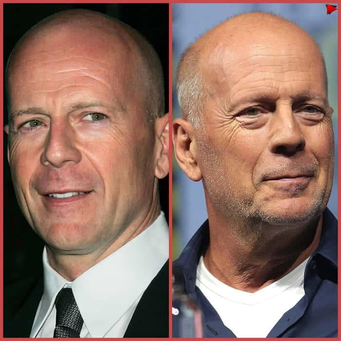 Bruce Willis with bald head