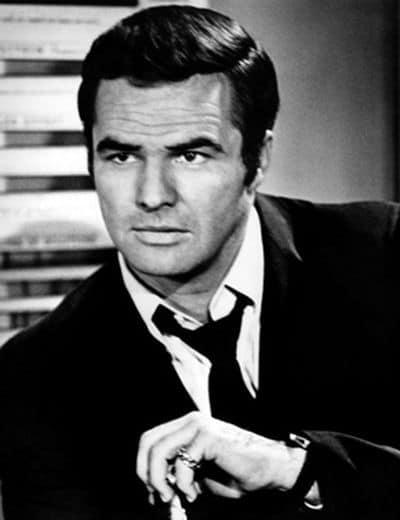 Photo of Burt Reynolds hairstyle.