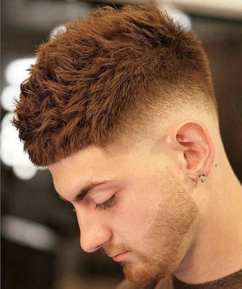 thick hair caesar cut