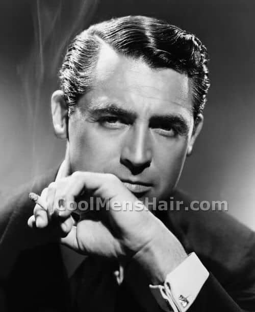Picture of Cary Grant classic hairstyle.