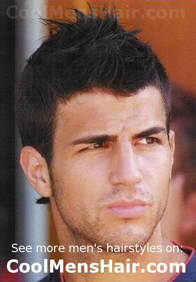 Photo of Cesc Fabregas faux hawk hairstyle.