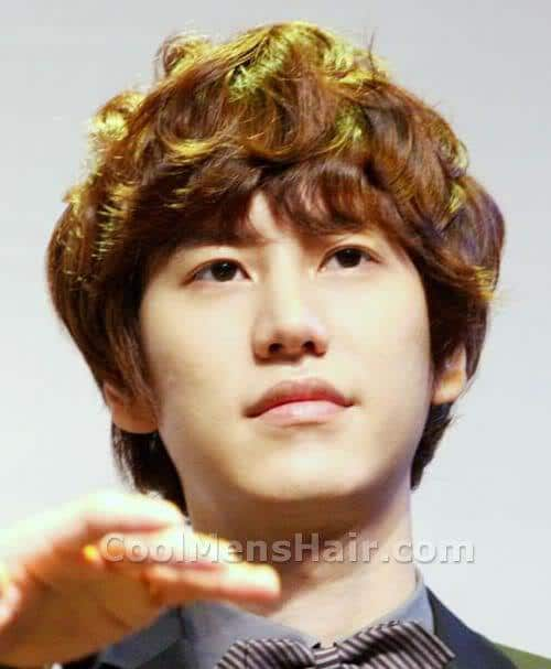 Pic of Cho Kyuhyun hairstyle.