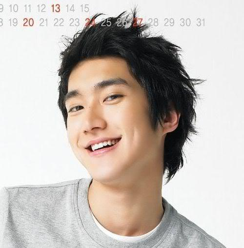 Photo of Choi Siwon hairstyle.