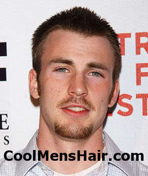 Short hairstyle from Chris Evans.