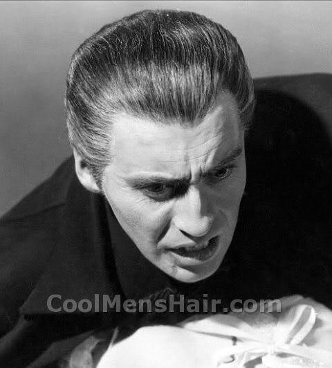Photo of Christopher Lee hairstyle.