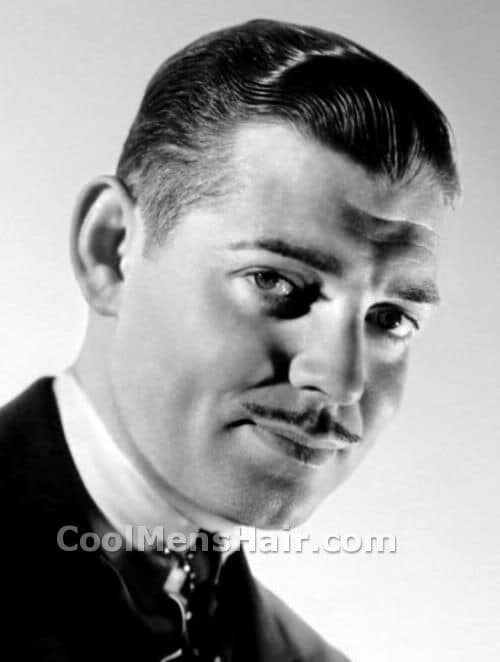 Image of Clark Gable short hairstyle.