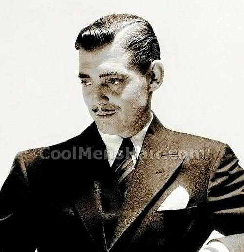 Picture of Clark Gable hairstyle.