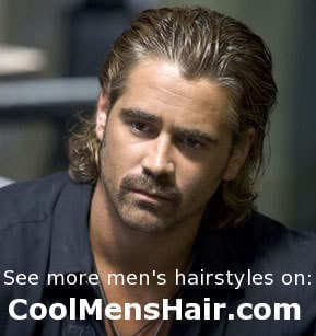 Photo of Colin Farrell long hairstyle.