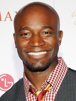 Picture of Taye Diggs with his bald head.