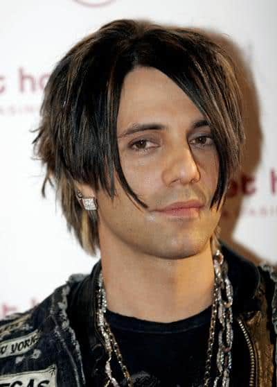 Criss Angel's razored haircut.