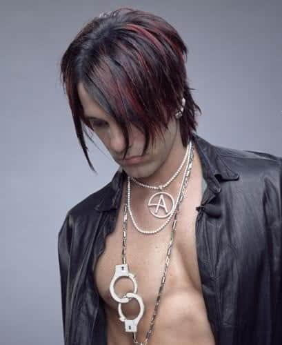 Criss Angel's razor haircut.