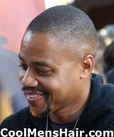 Picture of Cuba Gooding Jr crew cut hairstyle.
