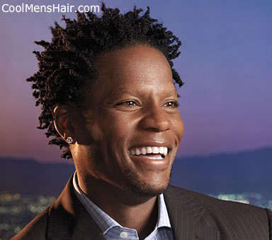 Image of D. L. Hughley african american twist hairstyle