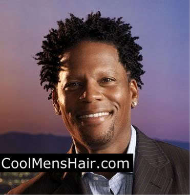 Photo of D. L. Hughley afro twist hairstyles for black men.