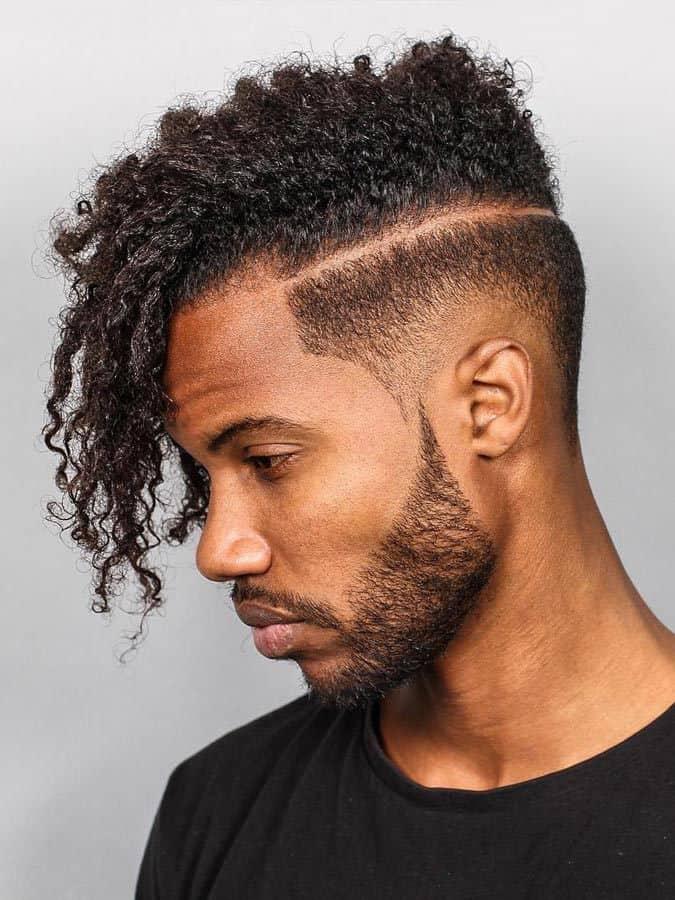 Tight Curls with Razor Line