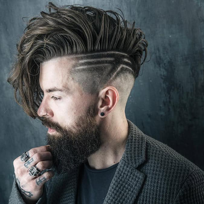 Asymmetrical Fringe undercut hairstyle