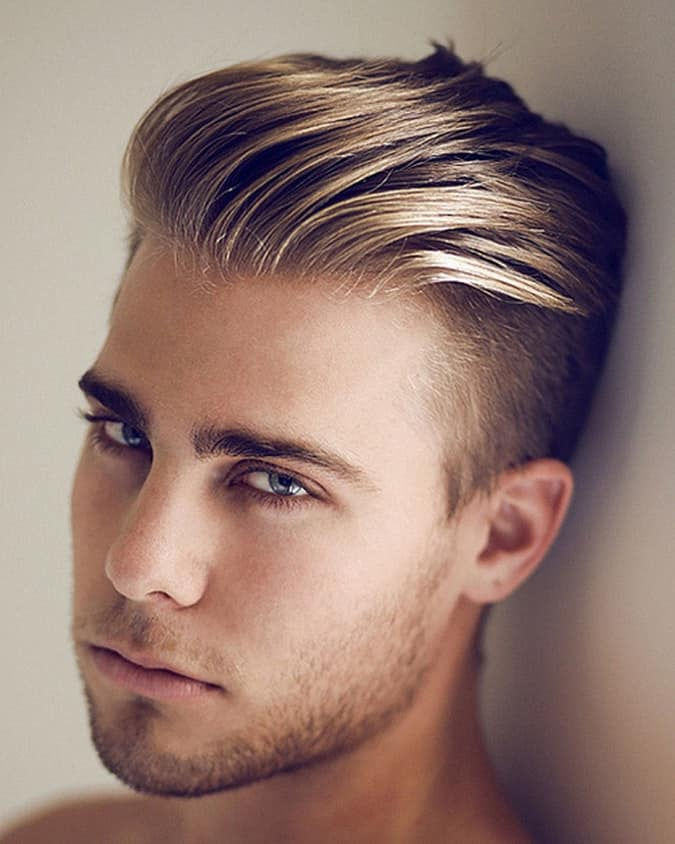 Pushed Slicked undercut for men