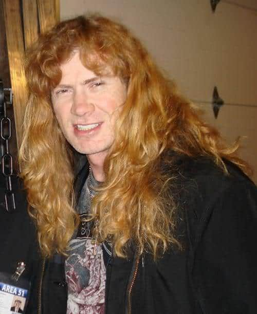 Picture of Dave Mustaine hairstyle.