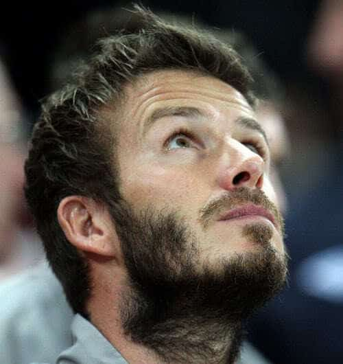Image of David Beckham full beard.