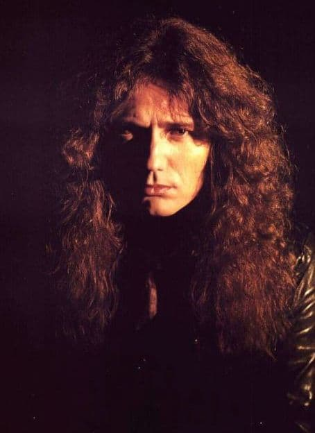 Photo of David Coverdale hairstyle.