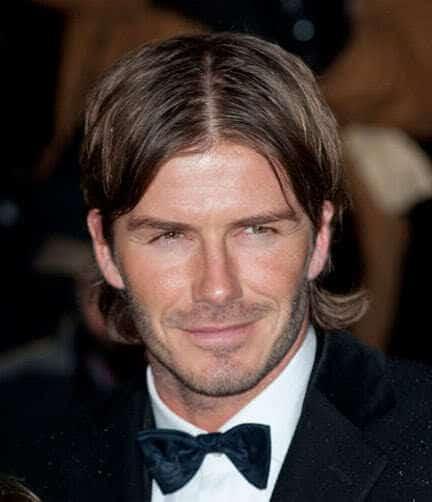 Picture of David Beckham stubble.