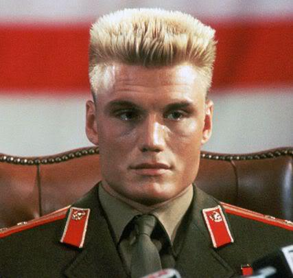 Photo of Dolph Lundgren military flat top.