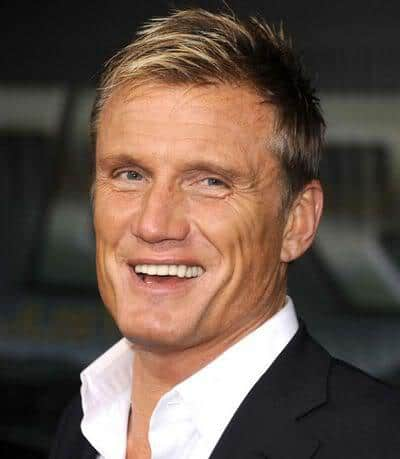 Picture of Dolph Lundgren short hairstyle.