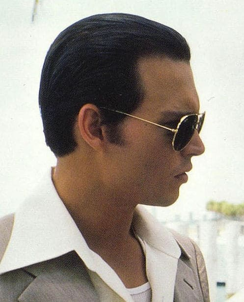 Photo of the side view of Donnie Brasco hair.