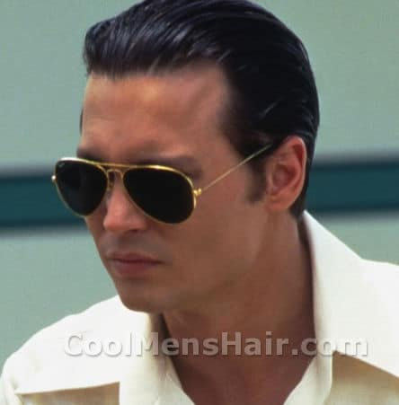 Picture of Donnie Brasco slick back hairstyle.