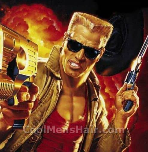 Photo of Duke Nukem hairstyle.