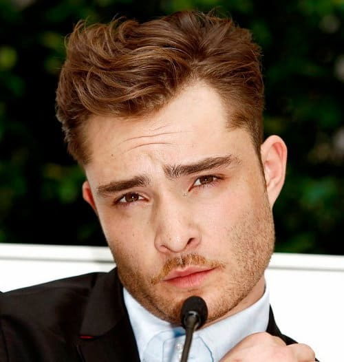 Photo of Ed Westwick hairstyle.