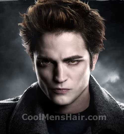 Photo of Edward Cullen vampire hairstyle.
