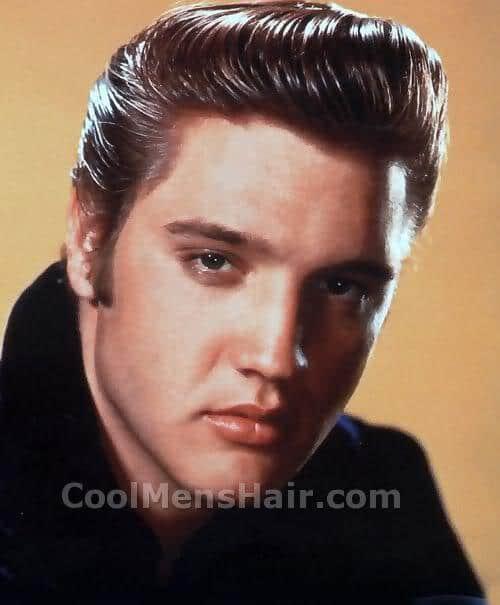 Elvis Presley hairstyle for men.